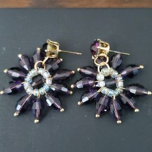 FASHION BEADS PURPLE EARRINGS